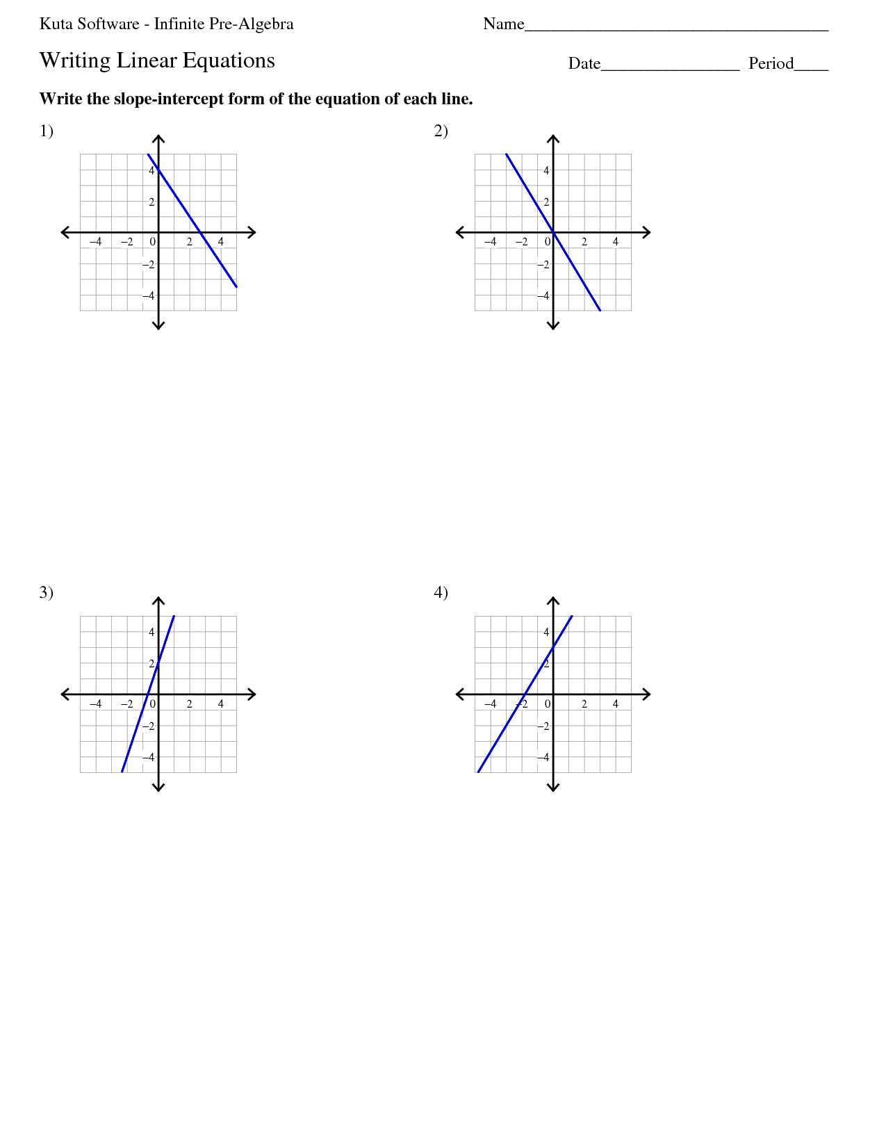 Systems Of Equations Graphing Worksheet Kuta