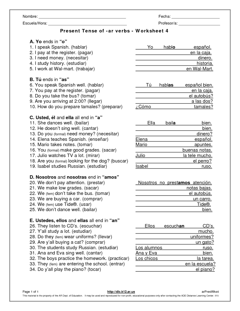 Verb To Be Present Tense Exercises Pdf Reviewwalls