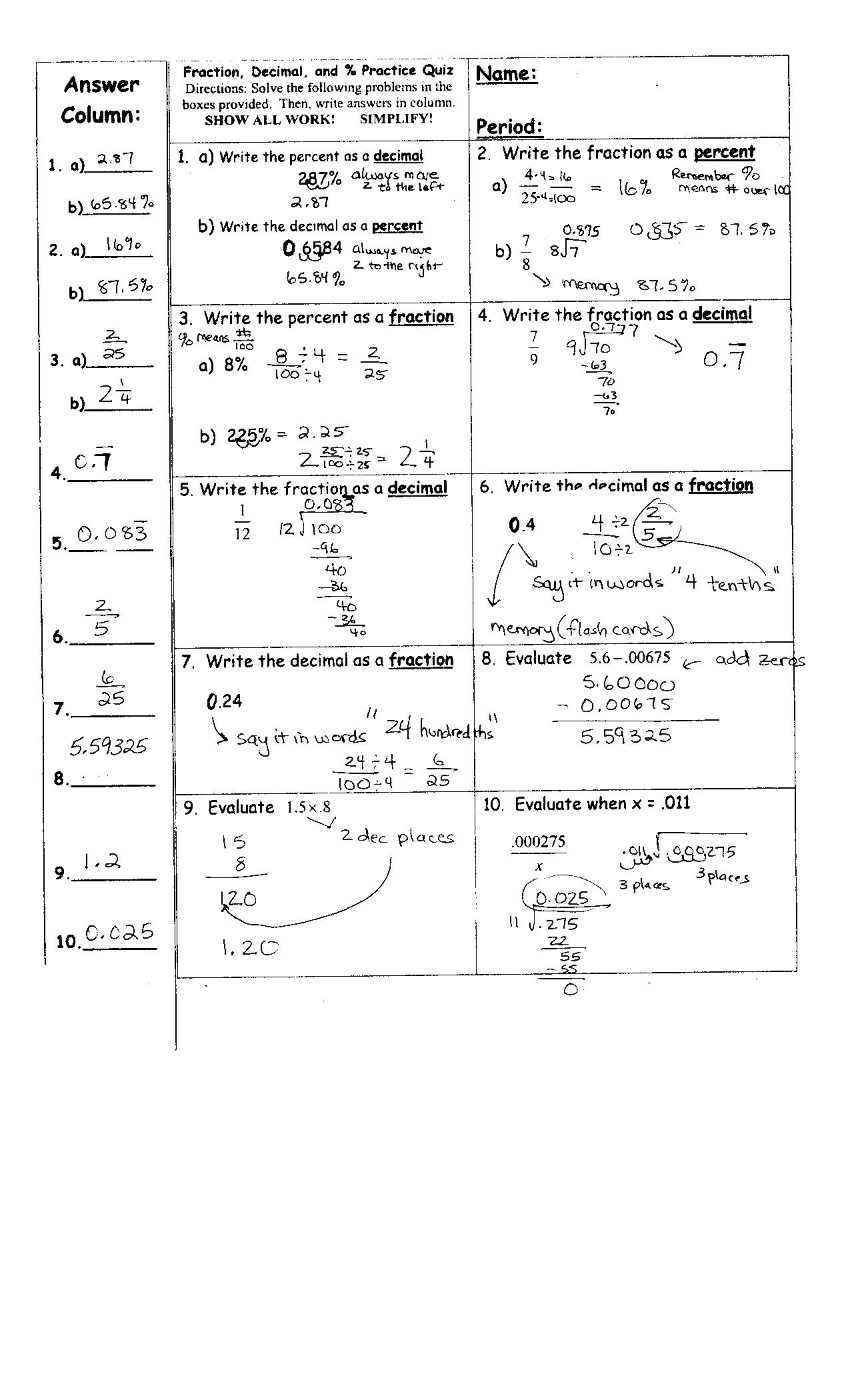 Greek Decoder Math Worksheet Answers