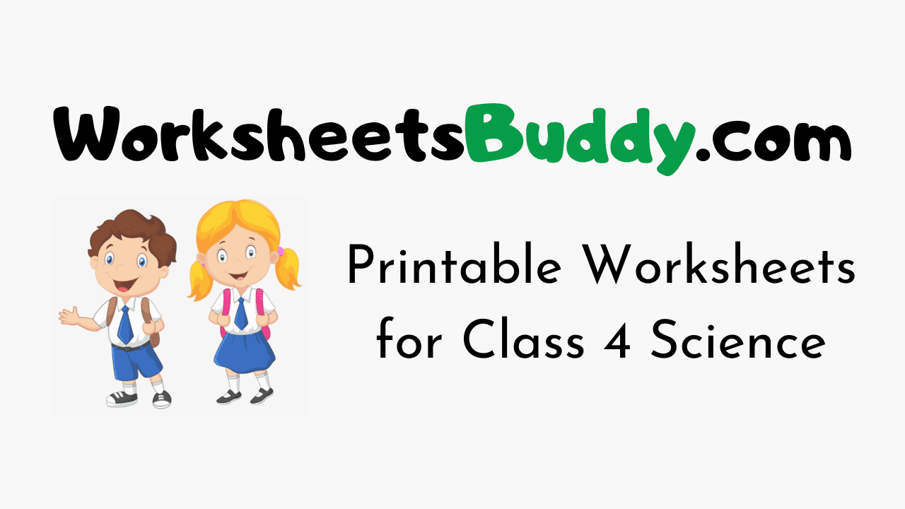 Worksheets for Class 4 Science