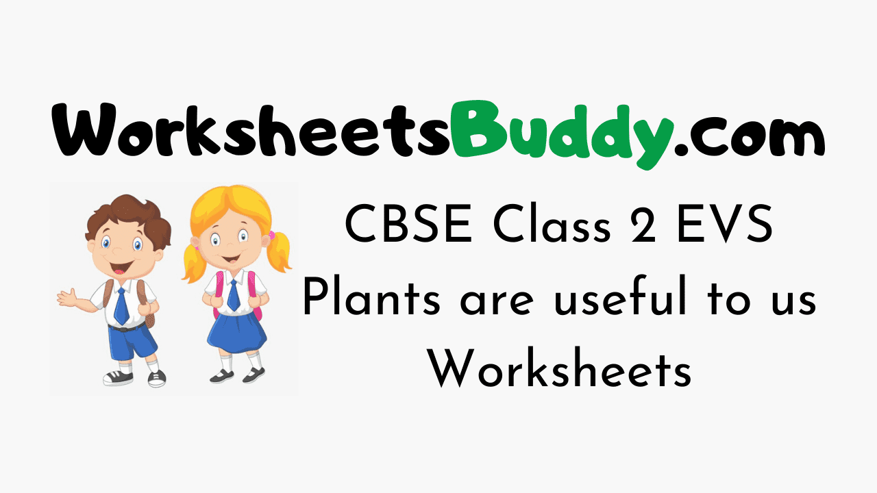 CBSE Class 2 EVS Plants are useful to us Worksheets