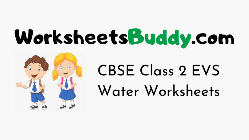 CBSE Class 2 EVS Water Worksheets