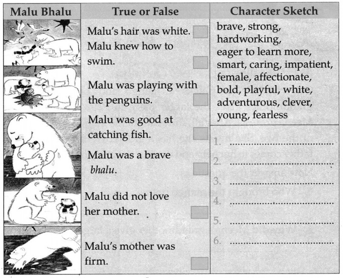 CBSE Class 5 English Malu Bhalu Worksheets 5