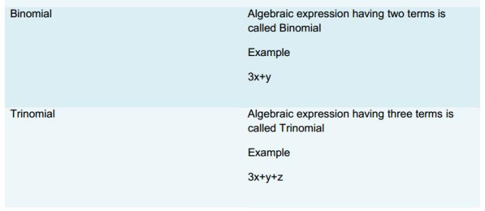 Algebraic Expressions and Identities Formulas Class 8 Q2