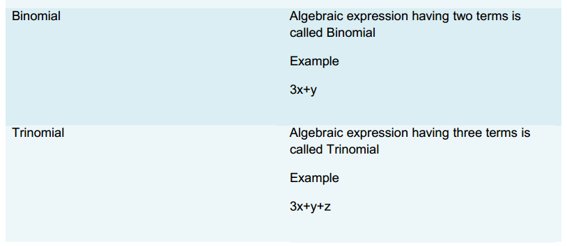 Algebraic Expressions and Identities Formulas Class 8 Q2