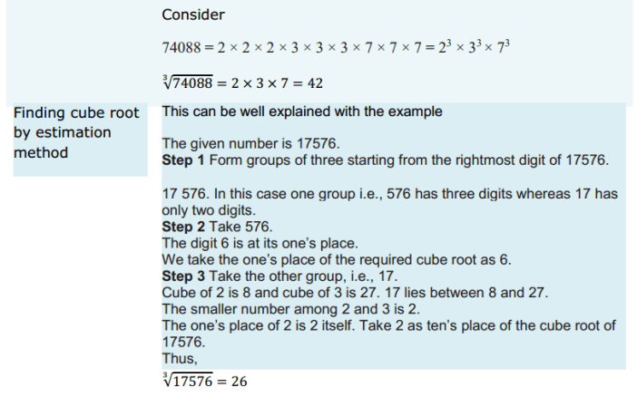 Cubes and Cube Roots Formulas for Class 8 Q4