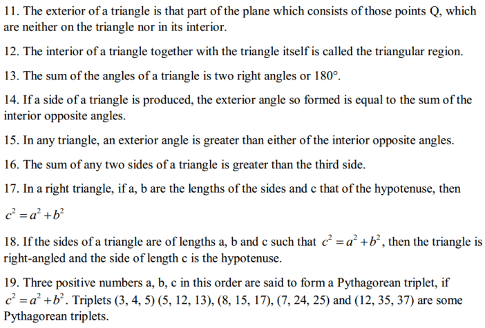 The Triangle and Its Properties Formulas for Class 7 Q2