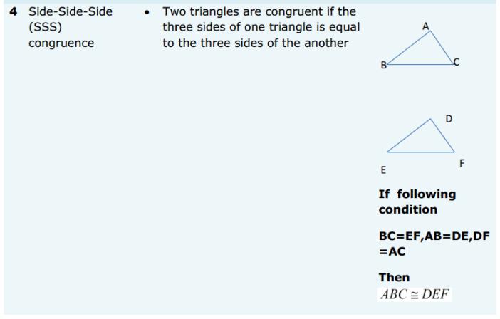 Triangles Formulas for Class 9 Q7