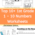 1 - 10 Numbers Worksheets