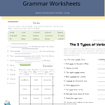 10 second Grade Verb Worksheets