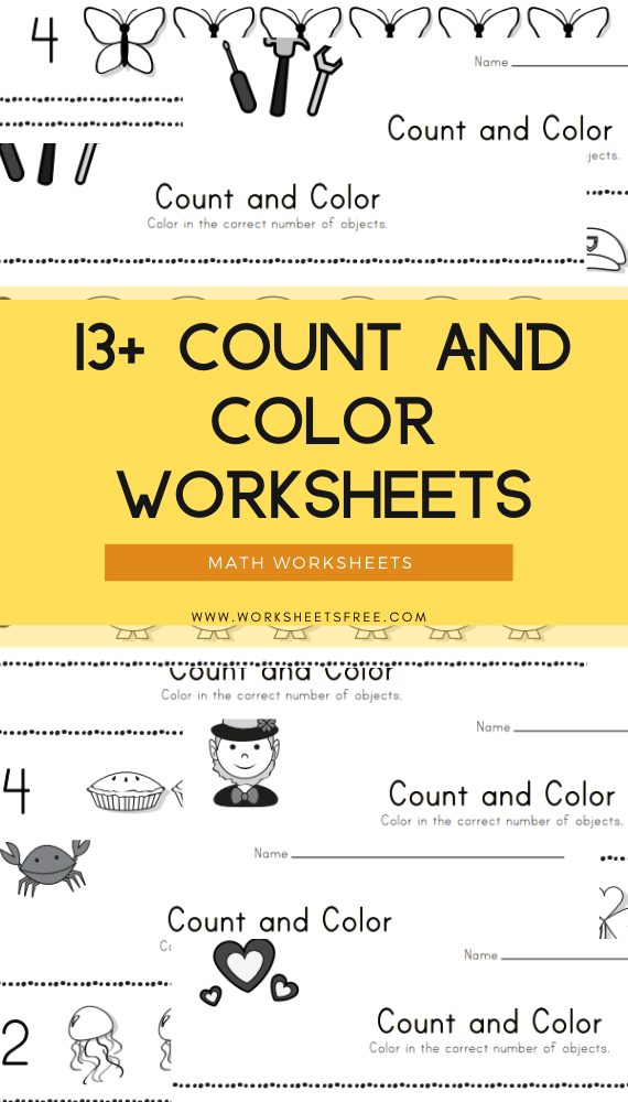 13+ Count and Color Worksheets