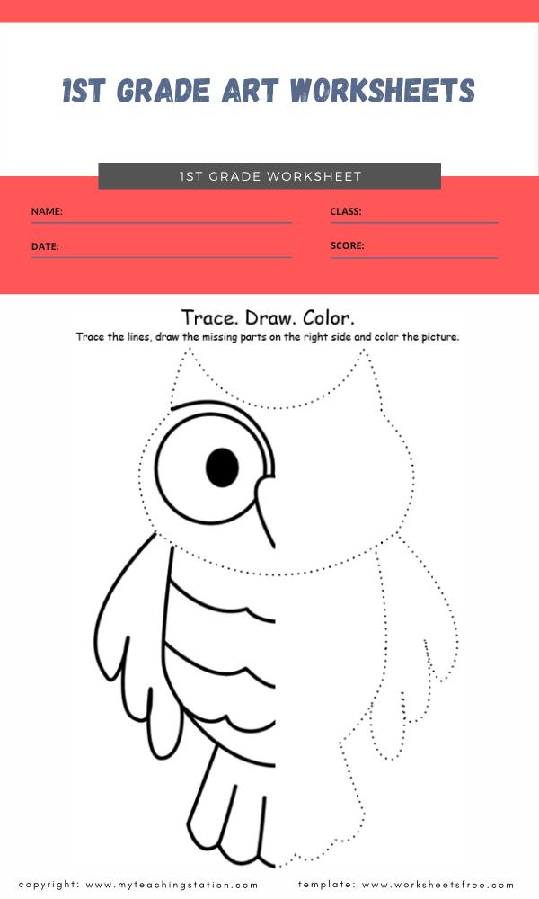 1st grade art worksheets 1