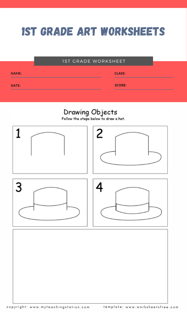 1st grade art worksheets 4