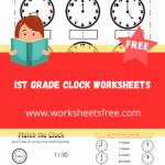 1st grade clock worksheets