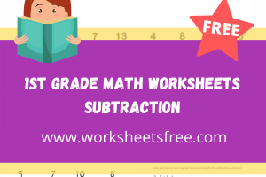1st grade math worksheets subtraction