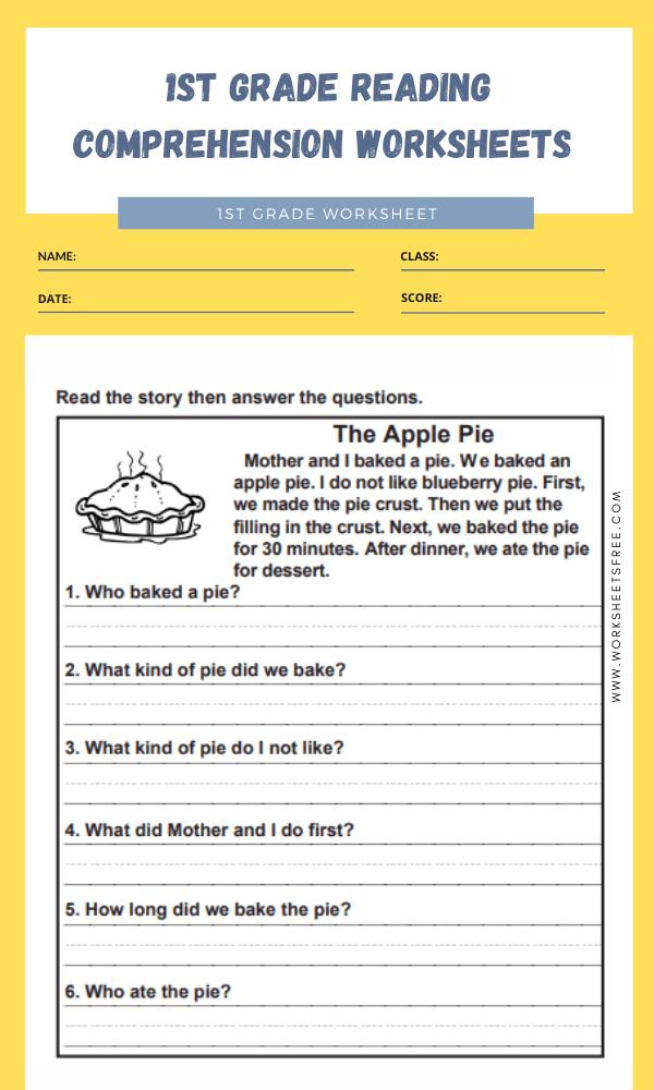 1st grade reading comprehension worksheets 9