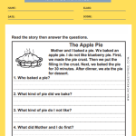 1st grade reading comprehension worksheets 9