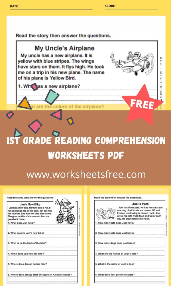 1st grade reading comprehension worksheets pdf