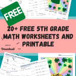 20+ Free 5th Grade Math Worksheets and Printable