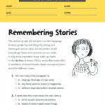 2nd grade reading comprehension worksheets multiple choice 5
