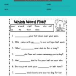 2nd grade sight words worksheets pdf 4