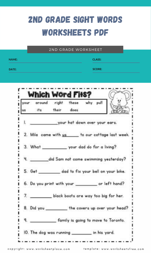 2nd grade sight words worksheets pdf 4