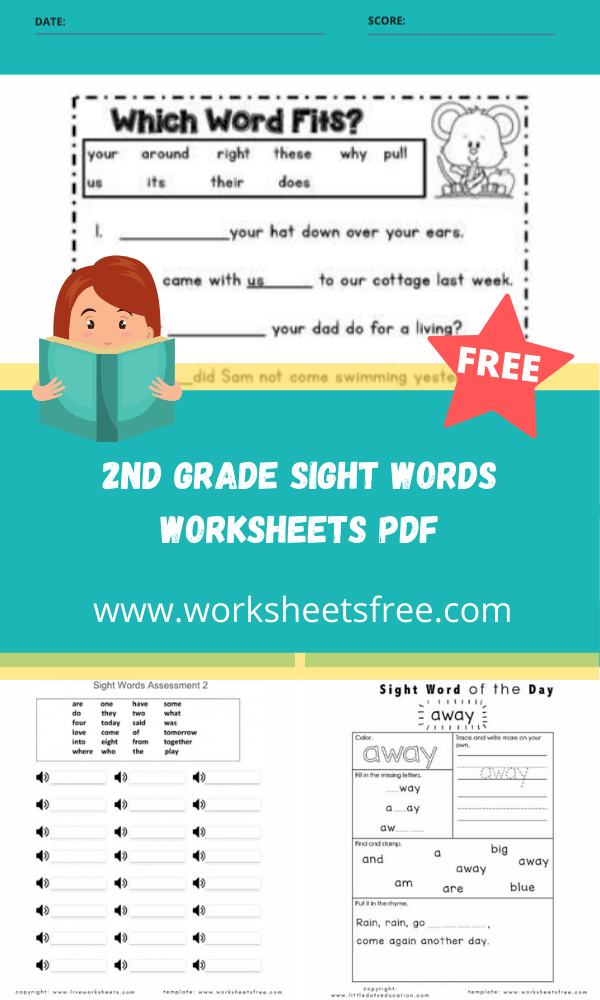 2nd grade sight words worksheets pdf