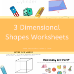 3 Dimensional Shapes Worksheets