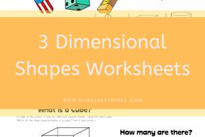3 Dimensional Shapes Worksheets
