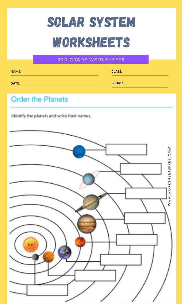 3rd Grade Solar System Worksheets 10