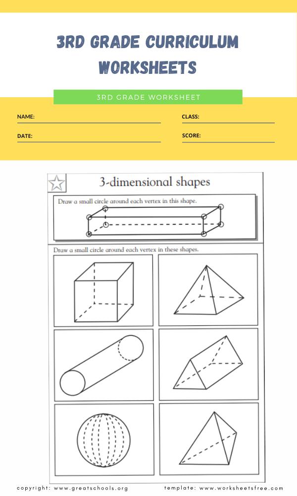 3rd grade curriculum worksheets 2