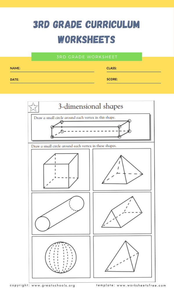 3rd grade curriculum worksheets 2