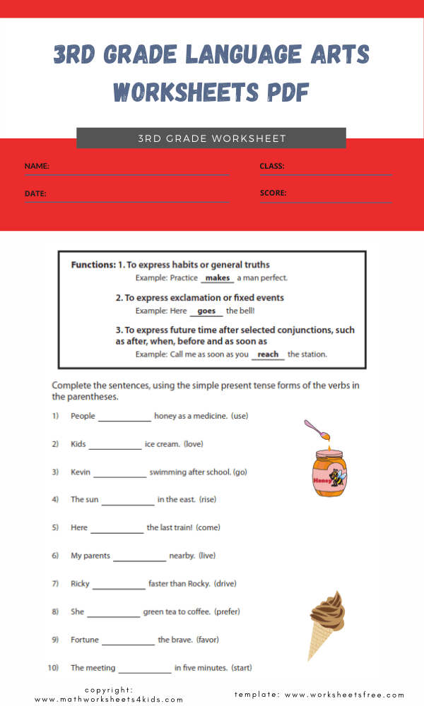 3rd grade language arts worksheets pdf 2