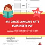 3rd grade language arts worksheets pdf
