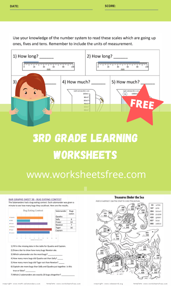 3rd grade learning worksheets