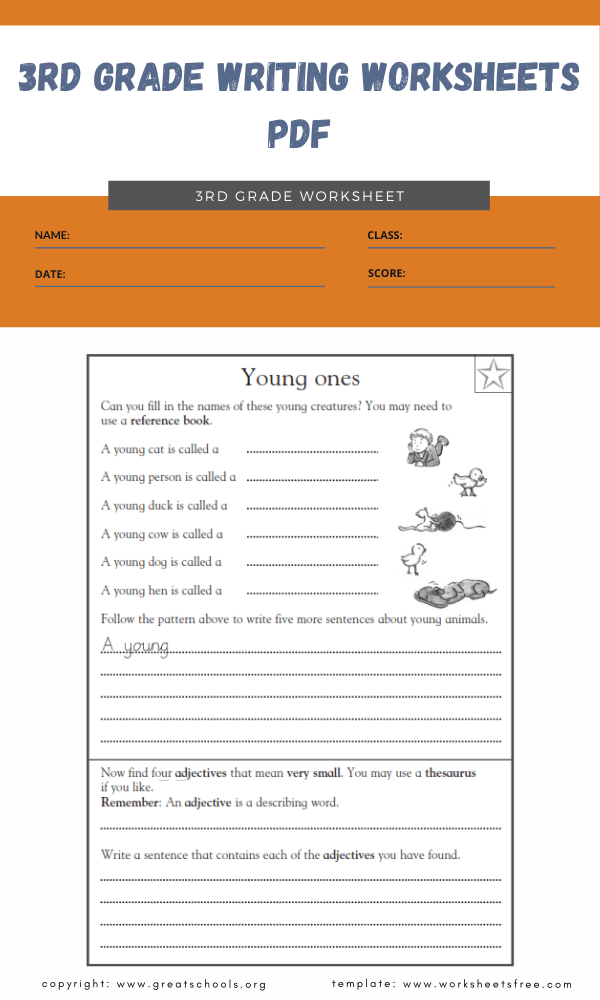 3rd grade writing worksheets pdf 2
