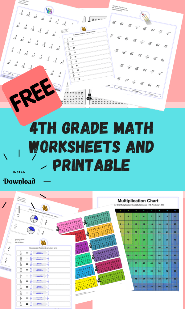 4th Grade Math Worksheets Worksheets Free