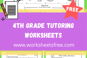 4th Grade Tutoring Worksheets