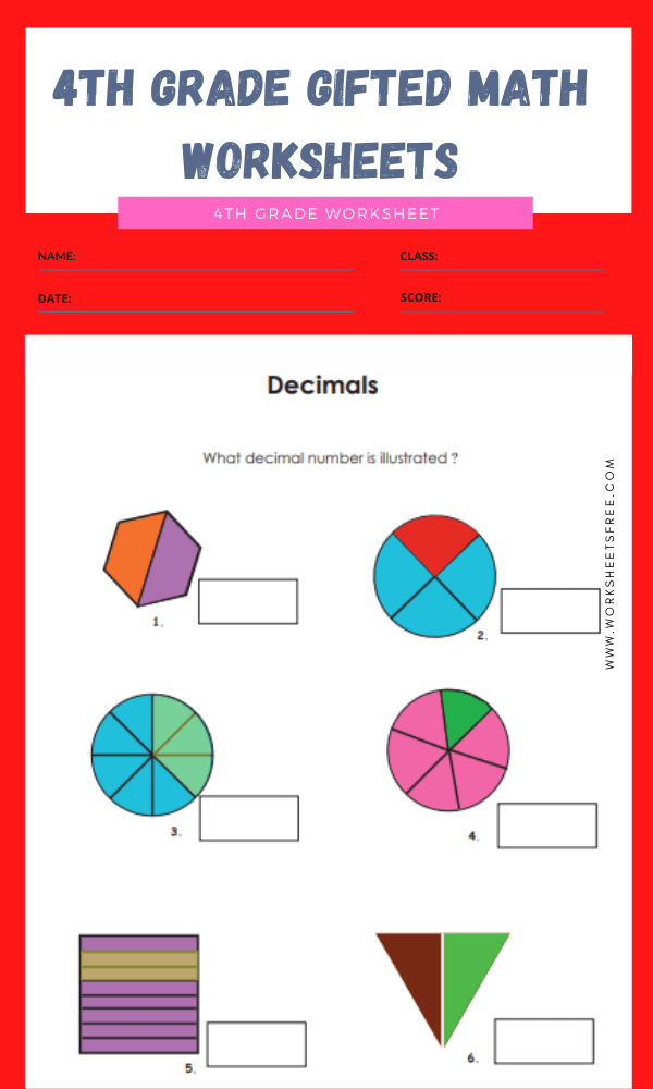 4th grade gifted math worksheets 10