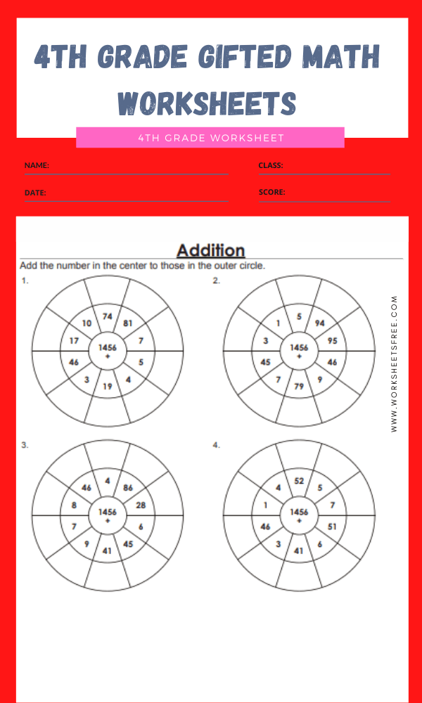 4th grade gifted math worksheets 16