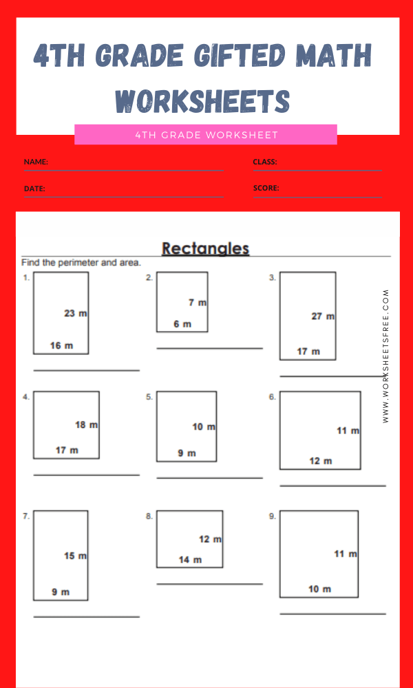 4th grade gifted math worksheets 4
