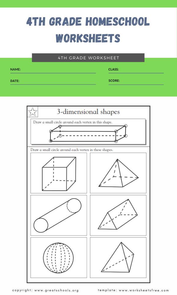 4th grade homeschool worksheets 1