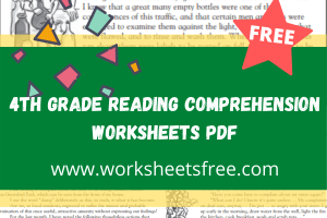 4th grade reading comprehension worksheets pdf
