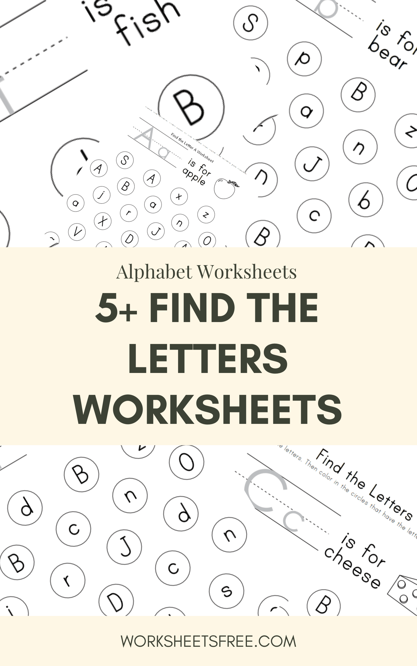 5 Find The Letters Worksheets
