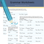 5 Subject Verb Agreement Worksheets