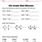 5th Grade Math Worksheets - 6