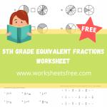 5th grade equivalent fractions worksheet