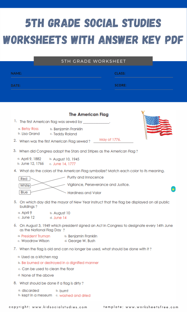5th grade social studies worksheets with answer key pdf 2