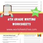 6th Grade Writing Worksheets