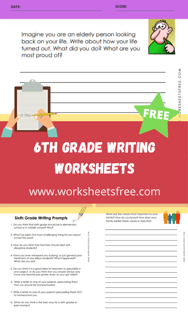 6th Grade Writing Worksheets